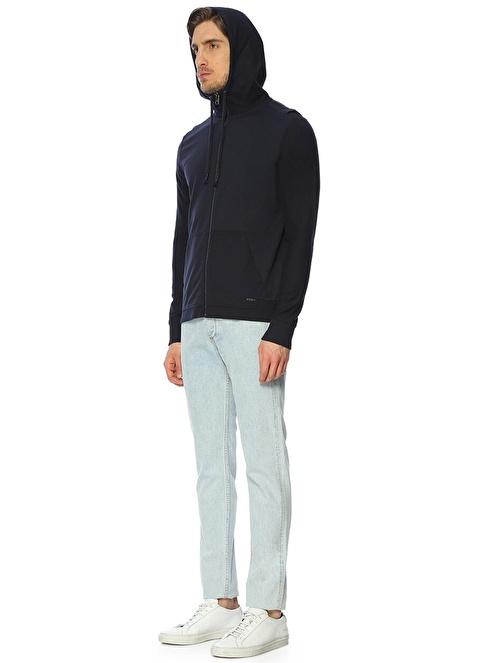 Boss Kapüşonlu Fermuarlı Sweatshirt Lacivert